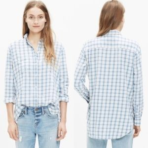 Madewell Oversized Flannel in Benton Plaid XXS